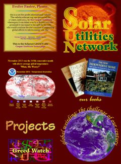Solar Utilities Network home page thumbnail