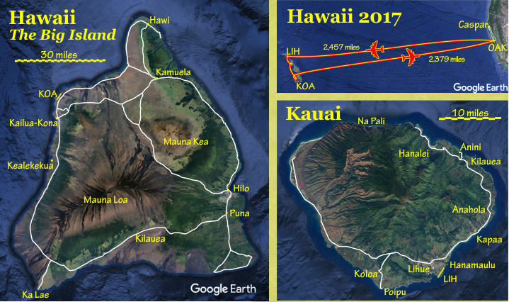 Hawaii 2017 map